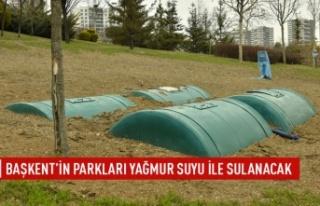 Başkent'in parkları yağmur suyuyla sulanacak