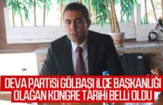 DEVA Partisi İlçe Başkanı Yılmaz, basınla bir...