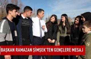 Başkan Ramazan Şimşek'ten Gençlere Mesaj…