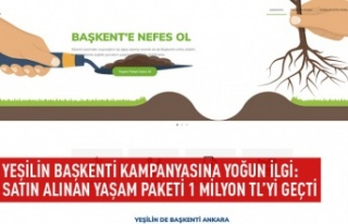 Yeşili Başkenti kampanyasına yoğun ilgi