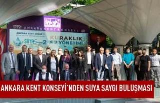 Ankara kent konseyi'nden suya saygı buluşması