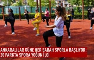 Ankaralılar güne sporla başlıyor