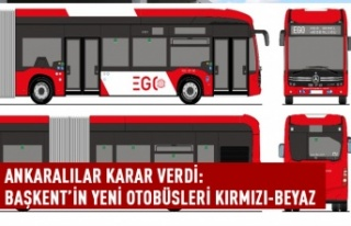 Başkent'in yeni otobüsleri kırmızı beyaz