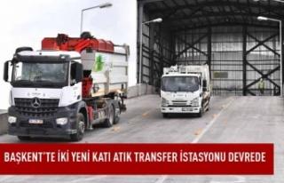 Başkent'te iki yeni katı atık transfer istasyonu...