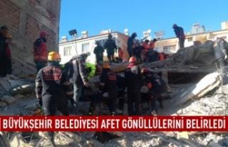 Büyükşehir Belediyesi afet gönüllülerini belirledi