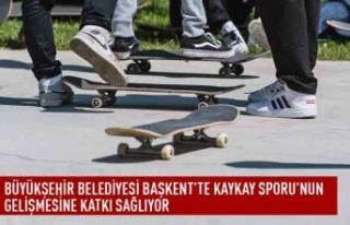 Büyükşehir belediyesi başkent'te kaykay sporu'nun...
