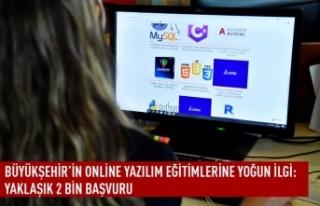 Büyükşehir'in online yazılım eğitimlerine...