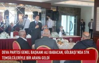 DEVA Partisi Genel Başkanı Ali Babacan, Gölbaşı'nda...