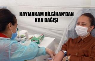 Kaymakam Bilgihan'dan kan bağışı