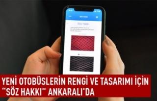 Yeni otobüslerin rengi ve tasarımı için söz Ankara'da