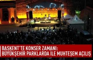 Başkent'te konser zamanı