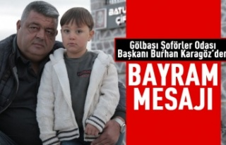 Burhan Karagöz'den Kurban Bayramı mesajı