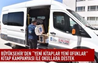 """Büyükşehir'den """"yeni kitaplar yeni ufuklar""""..."""