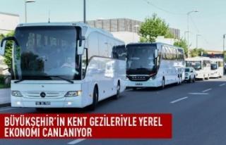 Büyükşehir'in kent gezileriyle yerel ekonomi...
