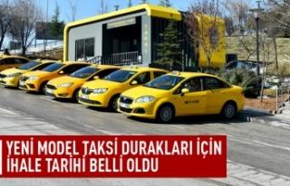 Yeni model taksi durakları için ihale tarihi belli...