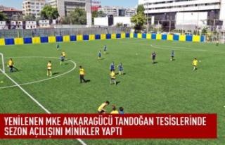 Yenilenen MKE Ankaragücü tandoğan tesislerinde...