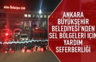 Ankara Büyükşehir Belediyesi'nden sel bölgeleri...