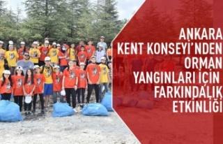 Ankara kent konseyi'nden orman yangınları için...
