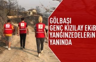 Gölbaşı Genç Kızılay ekibi Manavgat'ta...