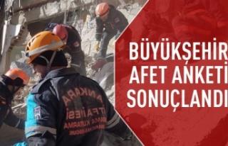 Ankara'da afet anketi