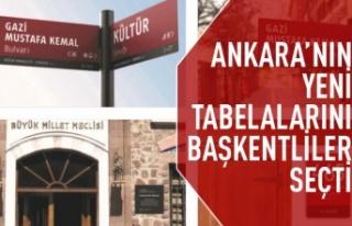 Ankara'nın tabelaları değişiyor