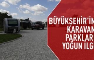 Başkent'in karavan parklarına yoğun ilgi