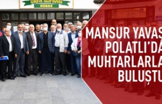 Mansur Yavaş Polatlı'da muhtarlarla buluştu