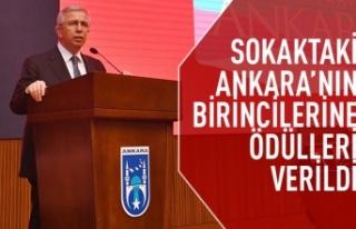 Sokaktaki Ankara'nın kazananların ödülleri...
