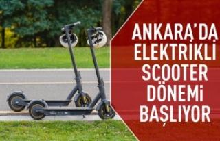 Ankara'da elektrikli scooter dönemi başlıyor
