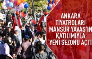 Ankara tiyatroları Mansur Yavaş'ın katılımıyla...