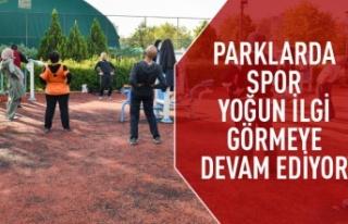 Parklarda spor büyük ilgi