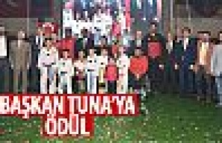 Amatör Spor Haftası'nda Tuna'ya ödül