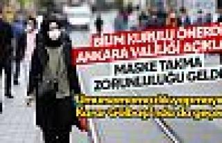 Ankara'ya da maske takma zorunluluğu getirildi
