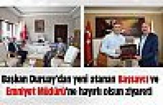 Başkan Duruay'dan hayırlı olsun ziyaretleri