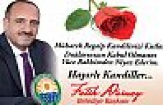 Başkan Duruay'dan Regaip Kandili mesajı