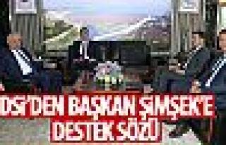Başkan Şimşek'ten DSİ Genel Müdürü Aydın'a...