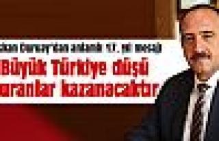"""Duruay: """"Büyük Türkiye düşü kuranlar kazanacaktır"""""""
