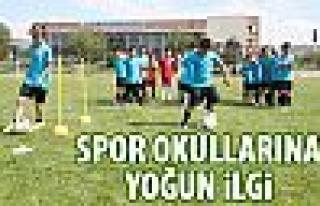 Gölbaşı spor okullarına yoğun ilgi