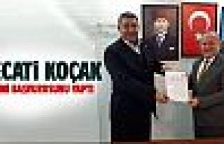 Necati Koçak resmi başvurusunu yaptı