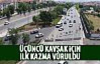 Samsun Yolu Türk Telekom Kavşağı için kazma vuruldu