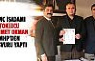 Toklucu Mehmet Okman MHP'den başvuru yaptı