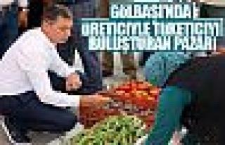Üreticiyle tüketici arasında köprü 'köylü pazarı'