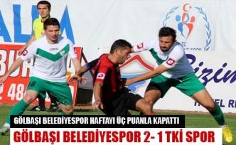 Gölbaşı belediyespor 2-1 Tki spor
