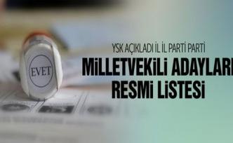 YSK'dan Milletvekili Aday Listeleri Resmi Sıralama