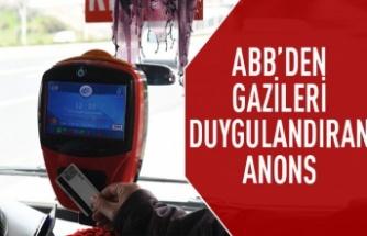 ABB'den gazileri duygulandıran anons