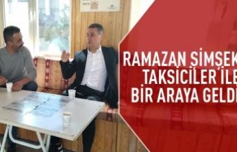 Başkan Ramazan Şimşek'ten Taksicilere Ziyaret