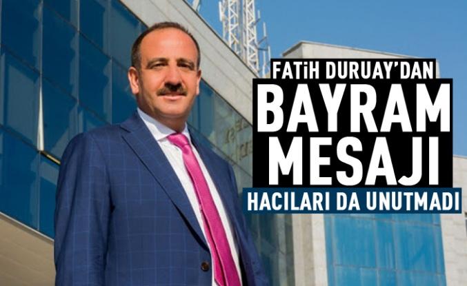 Fatih Duruay'dan Kurban Bayramı mesajı