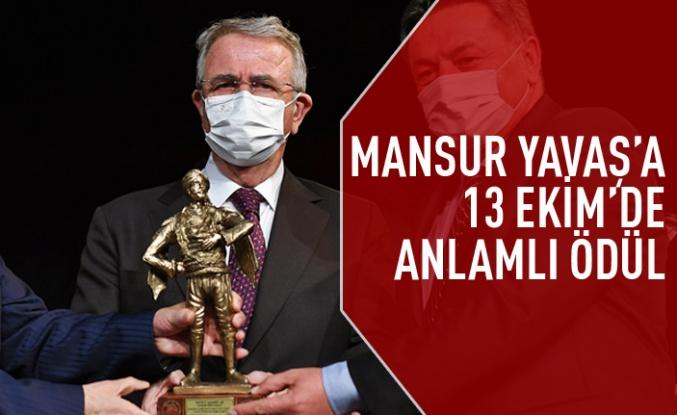 Mansur Yavaş'a 13 Ekim'de anlamlı ödül