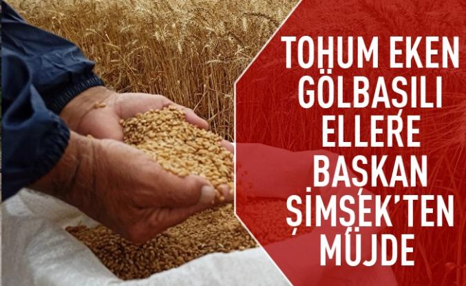 Ramazan Şimşek'ten Çiftçiye %100 Hibe Buğday Desteği