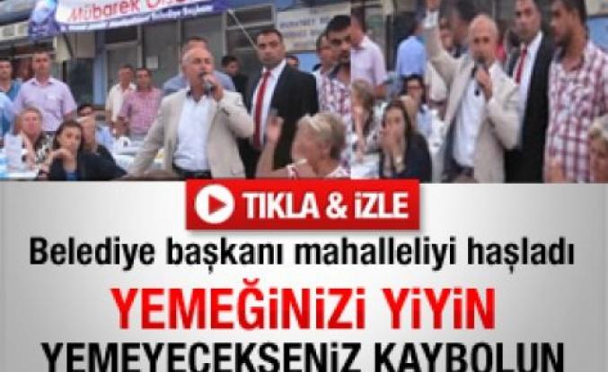 Belediye başkanından vatandaşa: Susun lan - Video